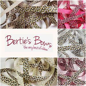 Berties-Bows-Leopard-Print-16mm-Grosgrain-Ribbon-5-Colours-1m-amp-2m