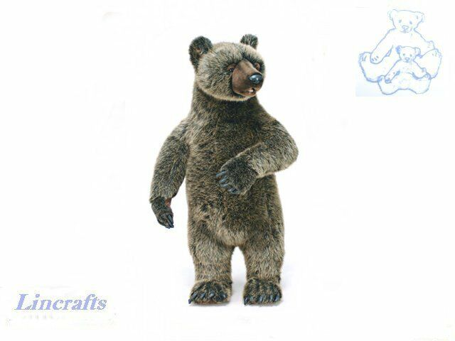 Hansa Lge Standing Grizzly Bear 3606 Soft Toy Sold by Lincrafts Established 1993