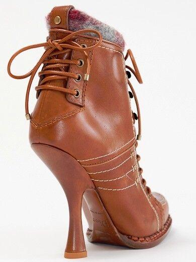 Nuevo dior Montagne oxidada botas de us cuero 37 us de 7 830f0f