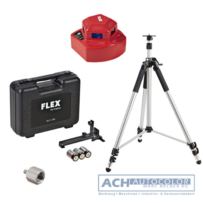FLEX 393.681 ALC 1-360 Linienlaser Selbstnivellierung + 398624 Stativ + Zubehör