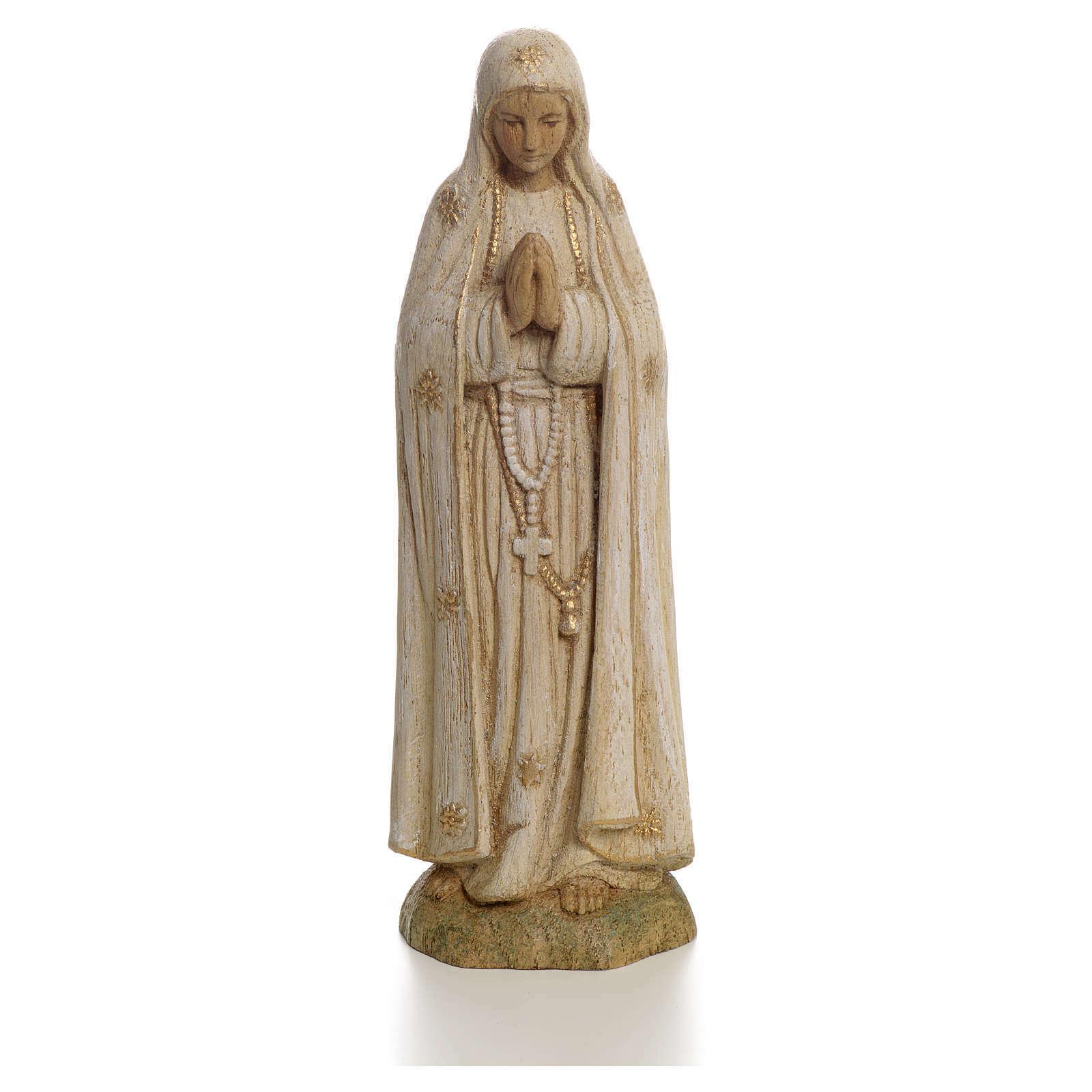Statue Gottesmutter von Fatima 15cm Holz, Bethleem