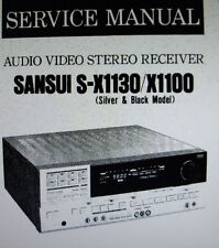 SANSUI S-X1100 S-X1130 AV ST RECEIVER SERVICE MANUAL INC SCHEMS BOUND ENGLISH