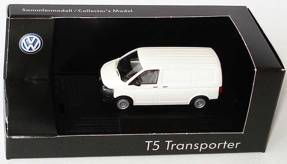 RARE VW T5 7 H TDI Transporter Van 2010 Candy Blanc 1 87 Wiking (concessionnaire modèle)