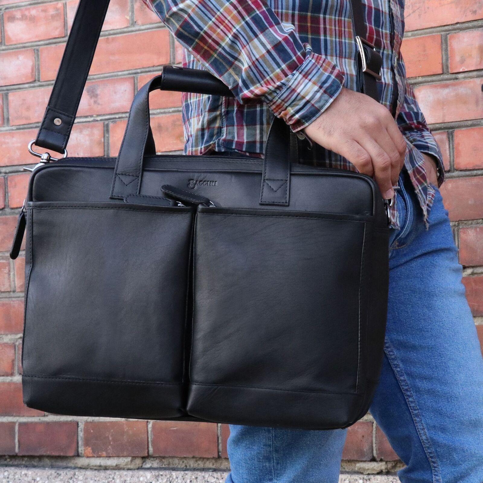 Laptoptasche Leder Business Tasche Tasche Tasche Handtasche Schultertasche Aktentasche schwarz | Nicht so teuer  c9da05