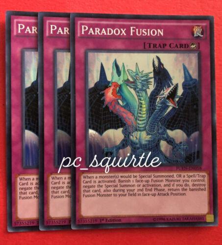x3 Paradox Fusion Super Rare 1st Edition FUEN-EN058 NM Yugioh