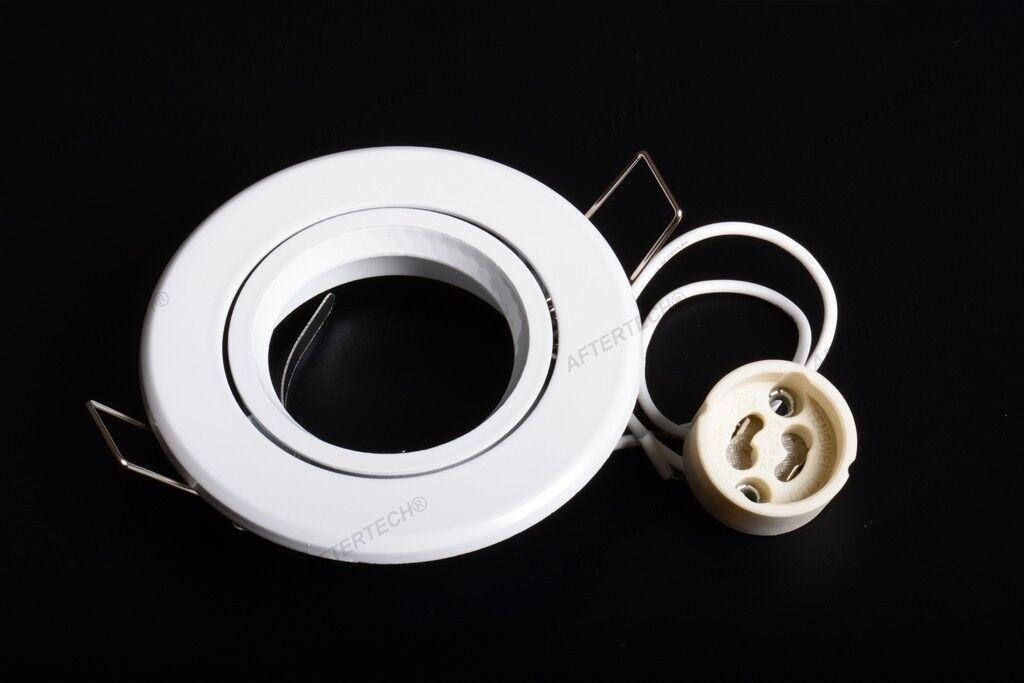100x Portalámparas blancoo Empotrable Lámparas Proyectores Gu10 220v Ajustable