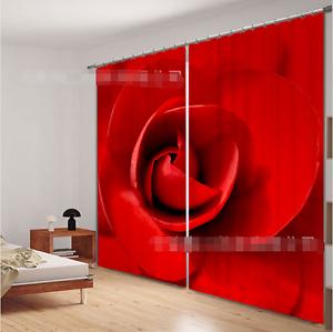 3D rojo Petals 52Blockout Photo Curtain Printing Curtains Drapes Fabric Window