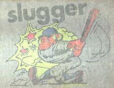 SLUGGER BASEBALL PLAYER vintage 70s iron on t shirt transfer full size