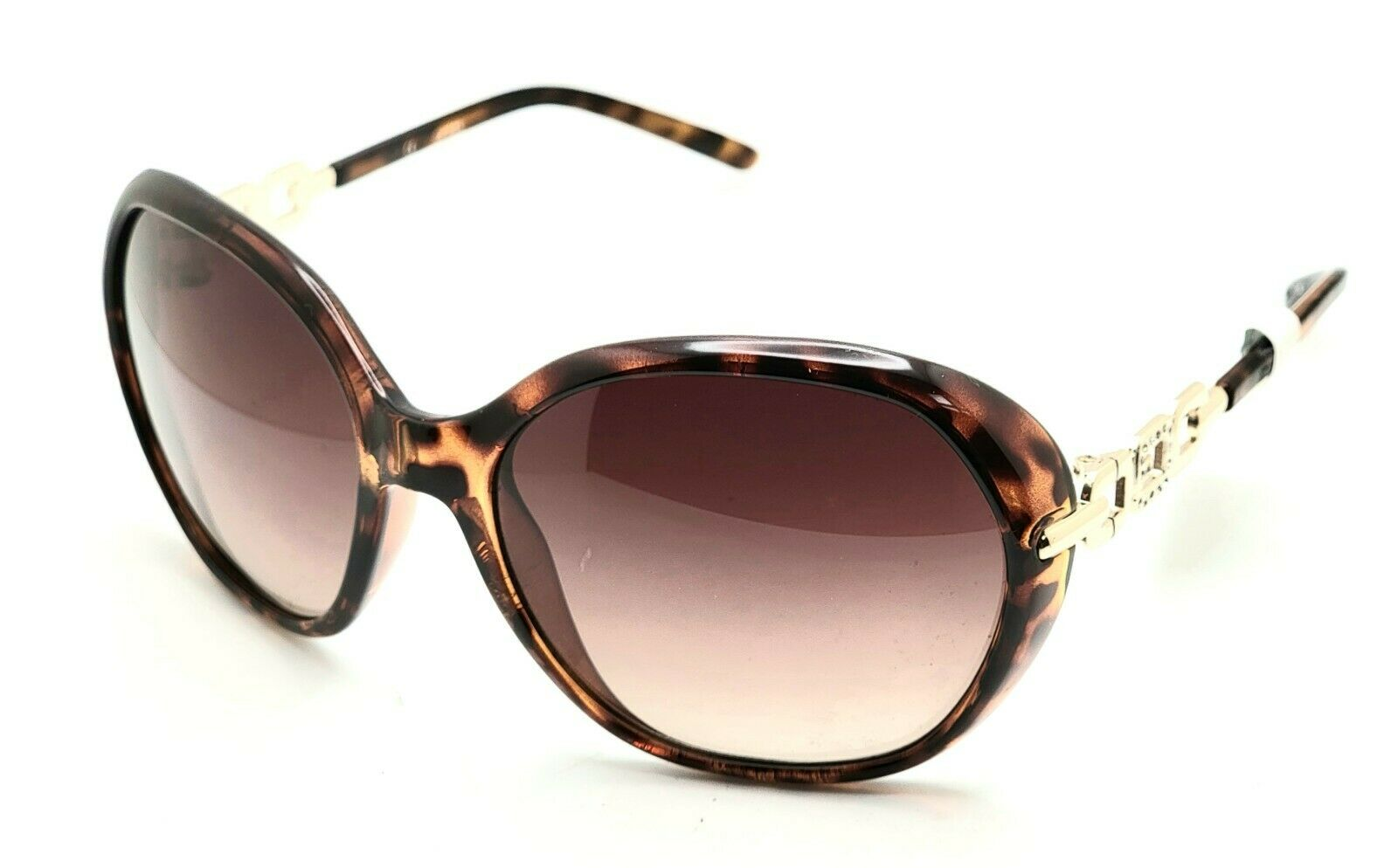 Guess GU7290 Brown TO-34 Tortoise Round Sunglasses 59-18 139 A