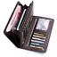 thumbnail 1 - Men Women Black Leather Phone Wallet Clutch Purse Card Cash Coin Photo ID Holder