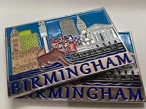 Souvenir Embossed Fridge Magnet Birmingham Landmarks