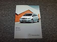 2010-2011 Mercedes Benz B170 B200 B-Class Owner Owner's Operator Guide Manual