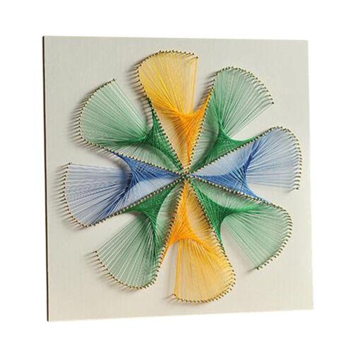 String Art Bastelset Nagelbild Motiv Blumendesign Fadenspannbild Fadengrafik