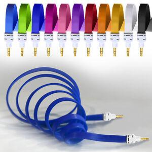 3-5mm-chapado-en-oro-conector-jack-a-Cable-Plano-Auxiliar-Audio-PLAYERS