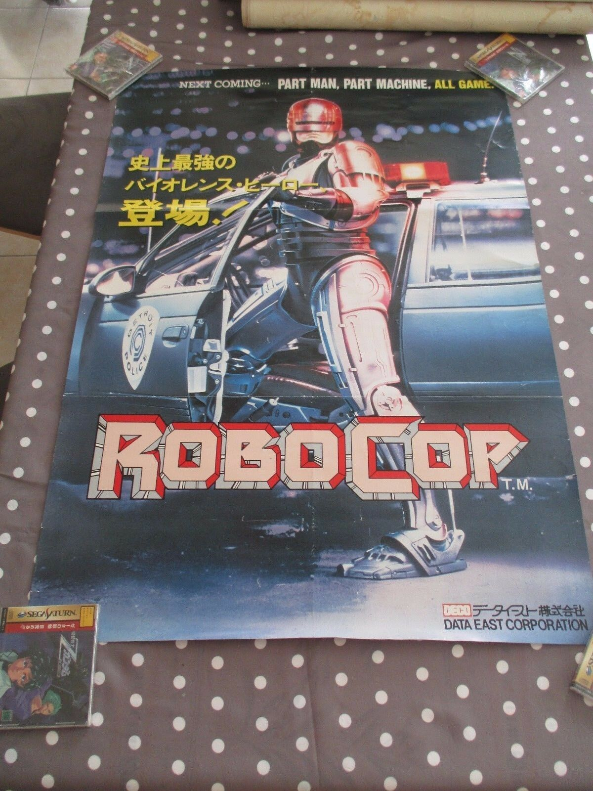 ROBOCOP DATA EAST  JAPAN ARCADE B1 Taille OFFICIAL POSTER    avec 60% de réduction