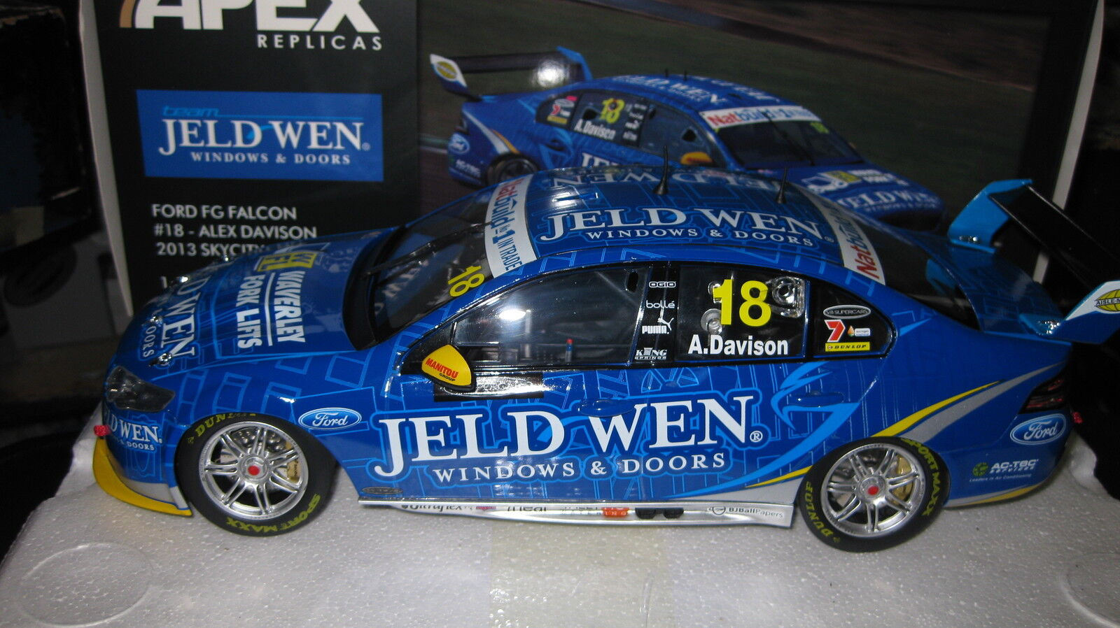 1 18 APEX FORD FG FALCON  18 ALEX DAVISON 2013 V8 SUPERCAR SKY CITY LTD ED FPR