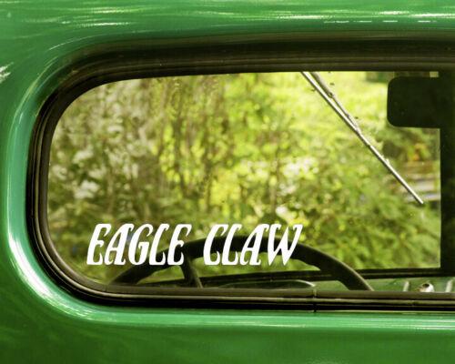 2 EAGLE CLAW FISH HOOKS LOGO DECALs Sticker Bogo For Car Window Bumper Laptop