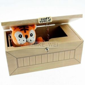 Wooden Leave Me Alone Box Useless Box Useless Machine Don't Touch ...