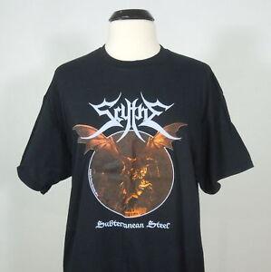 SCYTHE-Subterranean-Steel-R-I-P-Records-Black-Official-Shirt-L-NEW-Usurper