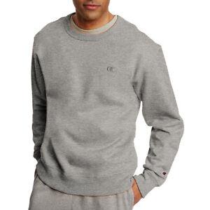 89d22419c018 2 Champion Men s PowerBlend Fleece Pullover Crews S0888 L Oxford ...