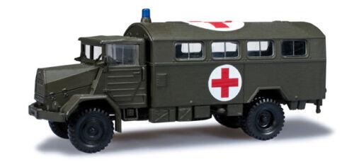Herpa 744577 Roco Minitanks MAN 630 Koffer-LKW Rotes Kreuz Bw 1:87