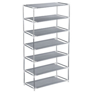 7-Tiers-Shoe-Rack-Shoes-Shelf-Organizer-Stand-Storage-Easy-Assemble-Space-Saving
