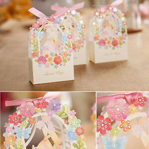 10X-New-Wedding-Favours-Candy-Sweets-Boxes-Bags-Table-Decorations-Spring-Flower