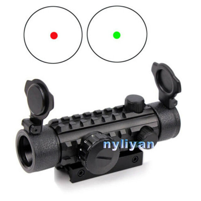 New Tactical 1X30 Red Dot Optic Scope Sight 20mm Picatinny Rail Mount For Rifle