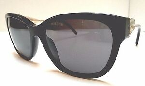 e9b563e887bd Burberry B 4203 3001/87 Black Gold Women's Sunglasses | eBay