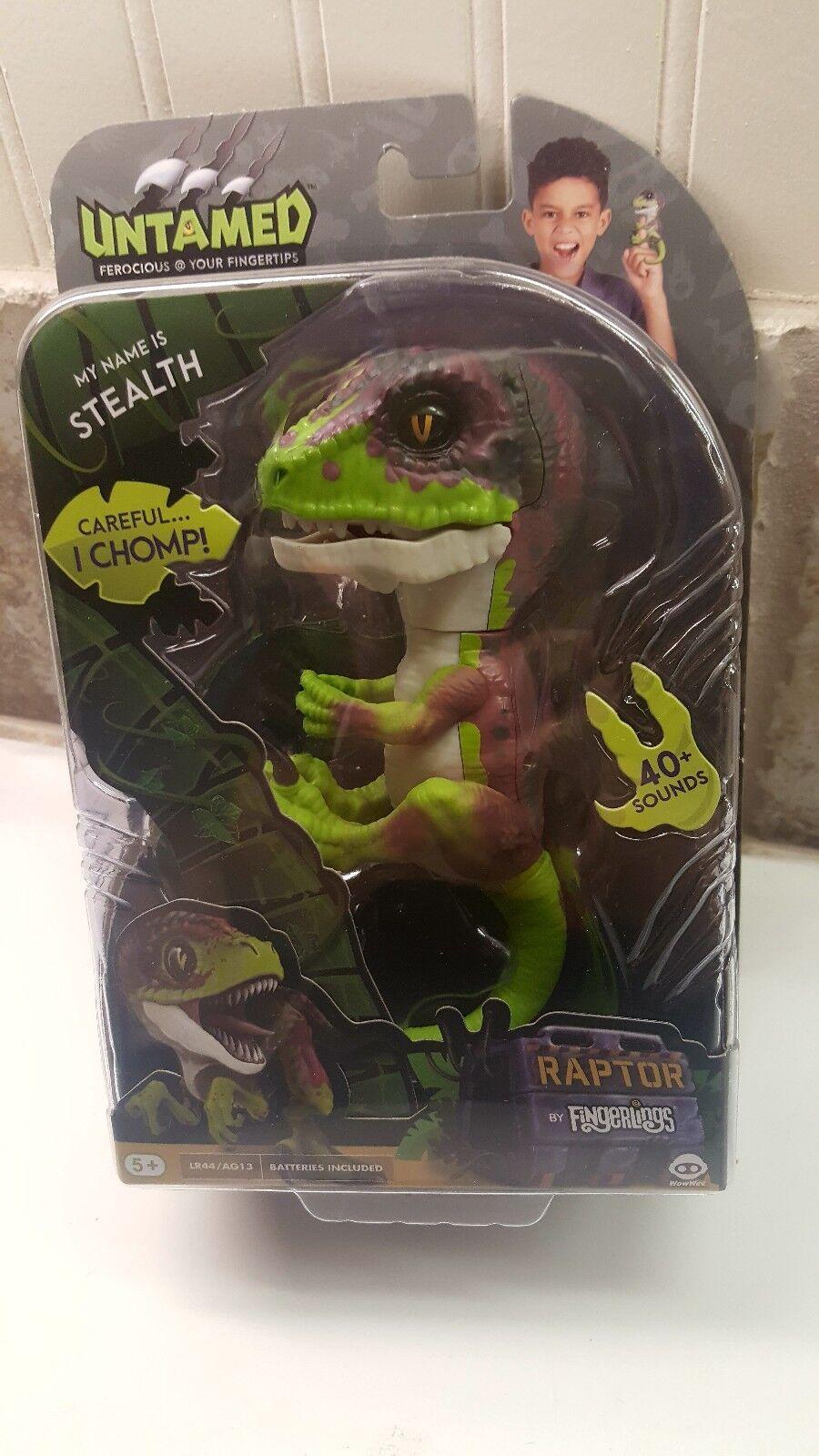 Fingerlings Stealth Raptor Grün lila Untamed Interactive Dinosaur by WowWee