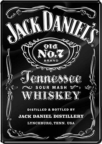 JACK DANIELS OVER SIZED PREMIUM SIGN EMBOSSED UV PROTECTED 18.5 W 26 H 0.25 D