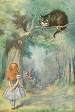 Alice in Wonderland John Tenniel A4 glossy Photo Print The Cheshire Cat