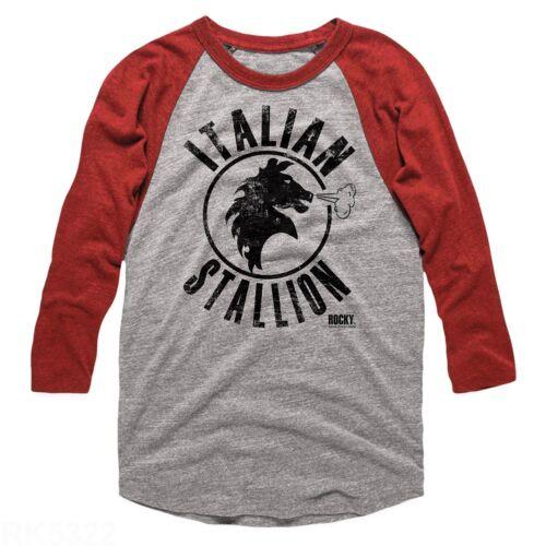 Rocky Balboa Movie T-Shirt Raglan New STALLION Heather Comb Sizes in SM 2XL