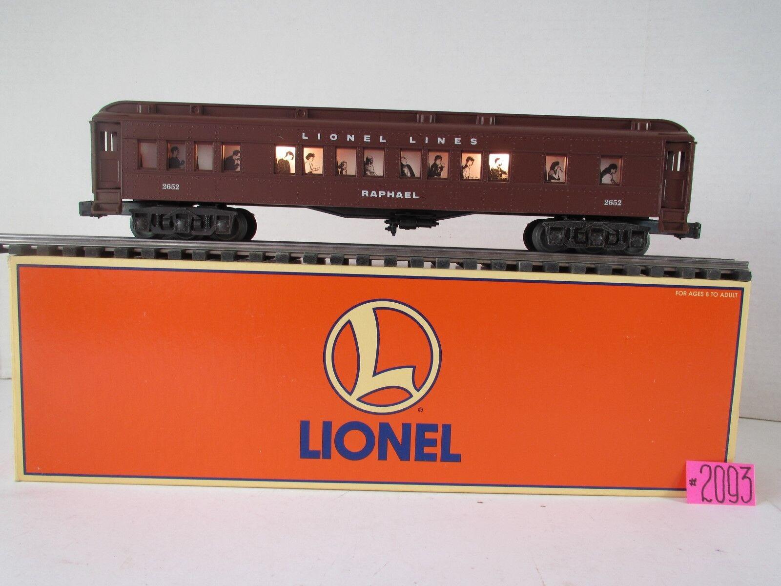 2652 líneas de Lionel  Raphael  pasajero iluminación interior del coche 6-19077 O.B.