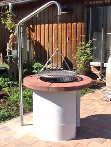 schwenkgrill grill grillgalgen edelstahl dreibein edelstahlschwenkgrill 50 cm. Black Bedroom Furniture Sets. Home Design Ideas