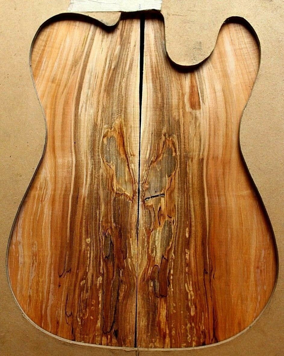 Spalted curly multi Farbe ambrosia figurot maple top .34  thick guitar bass 638