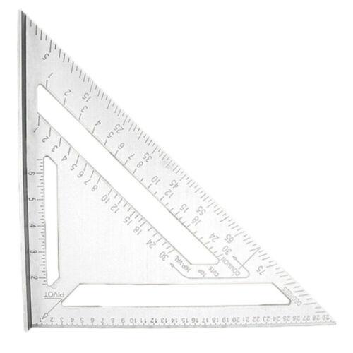1stk 30cm Aluminium Anschlagwinkeldreieck Tischler Messwerkzeug Dreieck Lineal