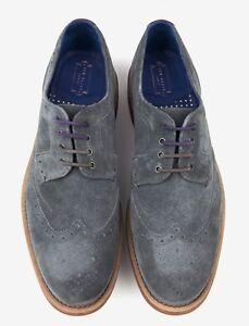 9333db46b Ted Baker London Mens Hontaar Oxford Wingtip Brogue Shoe Gray Suede ...
