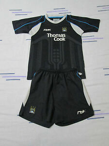 Manchester City football kit shirtshorts size JL3003432034 black colour Reebok - <span itemprop=availableAtOrFrom>Stockport, United Kingdom</span> - Manchester City football kit shirtshorts size JL3003432034 black colour Reebok - Stockport, United Kingdom