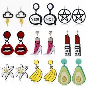 Fashion-Women-Acrylic-Banana-Lily-Cloud-Lipstick-Drop-Dangle-Earings-Jewelry-Hot