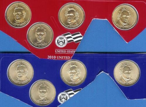 TWELVE 2010 P D S BU Satin//PROOF Presidential Dollars