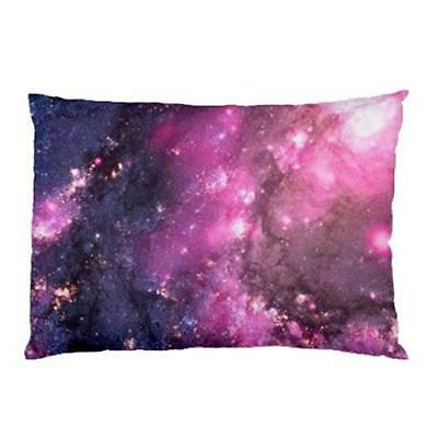 Purple Nebula Galaxy Universe Outer Space Two Side Bed Pillow Case