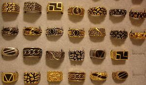 7 Men/'s Contemporary /& Nugget Rings in Sizes 8 to 13 ~~ BELOW WHOLESALE ~~