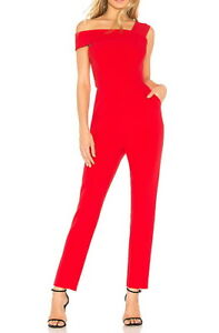 NEW-BCBG-MAXAZRIA-RED-BERRY-HAIDA-ONE-SHOULDER-JUMPSUIT-BYM9E076-L544A-SIZE-4
