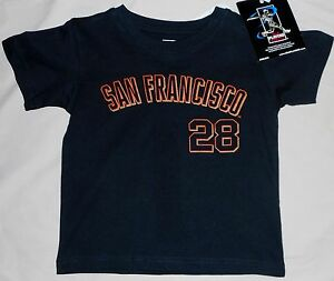 61d077694 SAN FRANCISCO GIANTS BUSTER POSEY  28 JERSEY T SHIRT TODDLER 2T 3T ...