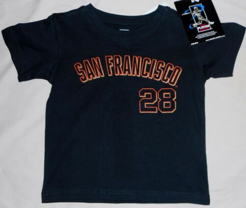 SAN FRANCISCO GIANTS BUSTER POSEY #28 JERSEY T SHIRT TODDLER 2T 3T 4T BLACK NWT