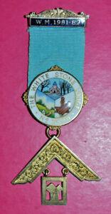 Masonic Past Master's Jewel The White Stone Lodge No 7098