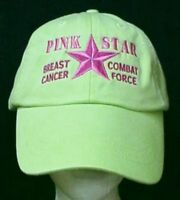 Breast Cancer Awareness Pink Star Combat Lime Baseball Hat Unisex