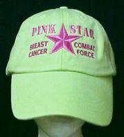 Breast Cancer Awareness Pink Star Combat Lime Baseball Hat Unisex