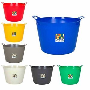 40L-FLEXI-TUBS-FLEXIBLE-TUB-STORAGE-BUCKET-CLOTHING-LAUNDRY-ASSORTED-COLOURS